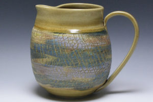 Yellow Crackle Pitcher