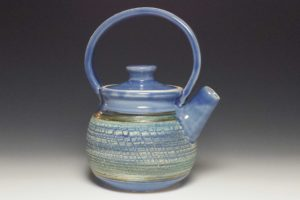 Teapot Blue Crackle